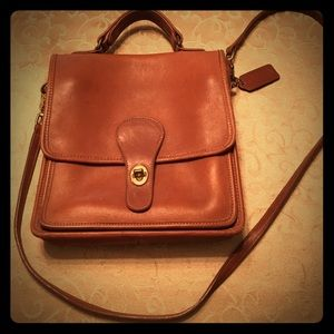Authentic Coach crossbody, real leather